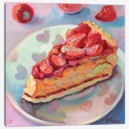 Piece Of Strawberry Pie Canvas Print #KTV72} by Katharina Valeeva Canvas Print
