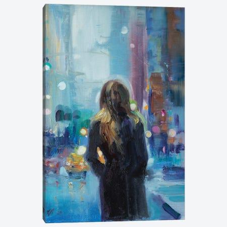 Rainy Day In The City Canvas Print #KTV79} by Katharina Valeeva Canvas Print