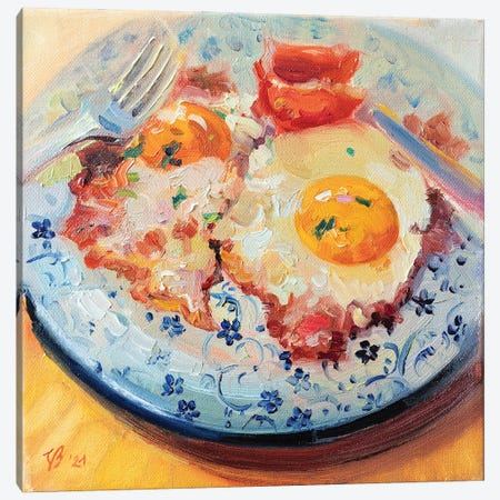 Bacon And Eggs Canvas Print #KTV7} by Katharina Valeeva Canvas Artwork
