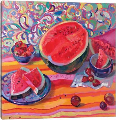 Still Life With Watermelon Canvas Art Print