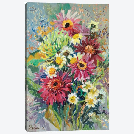 Summer Bouquet Canvas Print #KTV99} by Katharina Valeeva Art Print