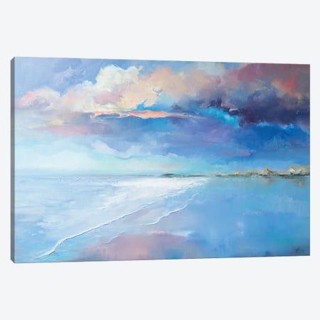 Beautiful Evening On The Beach Canvas Print #KTV9} by Katharina Valeeva Canvas Art Print