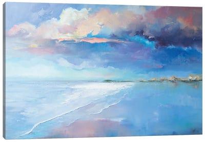 Beautiful Evening On The Beach Canvas Art Print