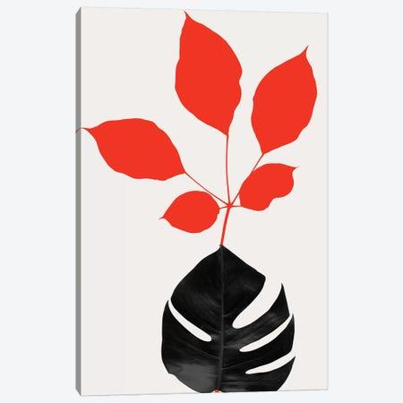 Azurea - Red Canvas Print #KUB111} by Kubistika Canvas Print