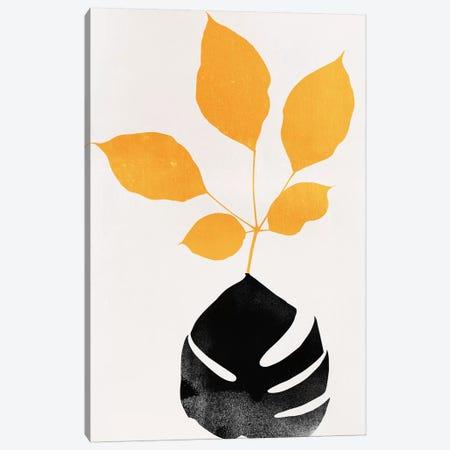 Azurea - Yellow Canvas Print #KUB112} by Kubistika Art Print