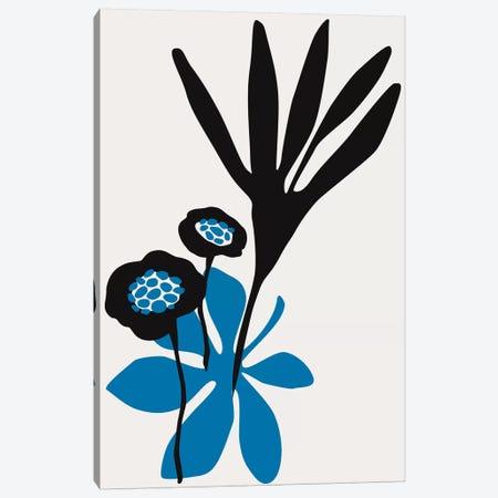 Blossom Beauty - Blue Canvas Print #KUB117} by Kubistika Canvas Art