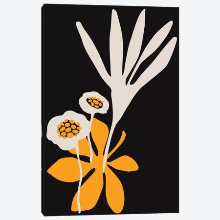 Blossom Beauty - Dark Yellow Canvas Print #KUB119} by Kubistika Canvas Print