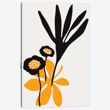 Blossom Beauty - Yellow Canvas Print #KUB122} by Kubistika Canvas Artwork