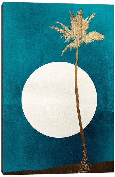 Caribbean Dreams-Gold Canvas Art Print