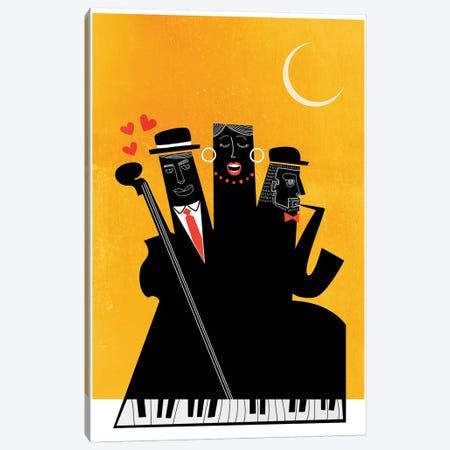 Casablanca Jazz-Yellow Canvas Print #KUB129} by Kubistika Canvas Art