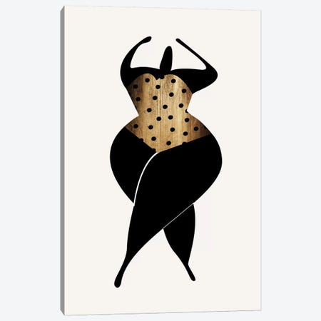 Dancing In The Sun - Black Canvas Print #KUB139} by Kubistika Canvas Art Print