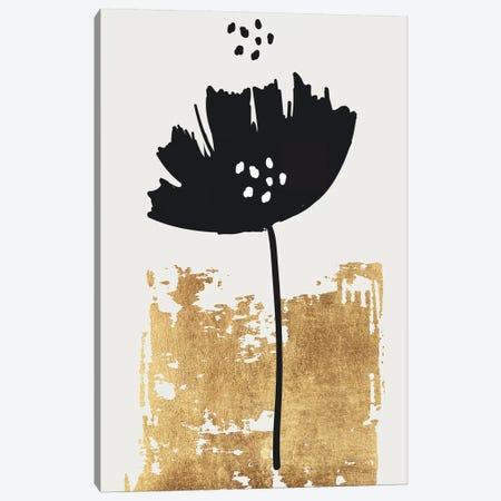 Black Poppy Canvas Print #KUB13} by Kubistika Canvas Art