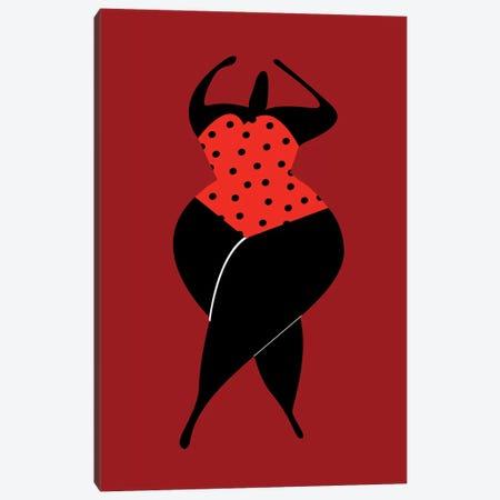 Dancing In The Sun - Dark Red Canvas Print #KUB140} by Kubistika Canvas Wall Art