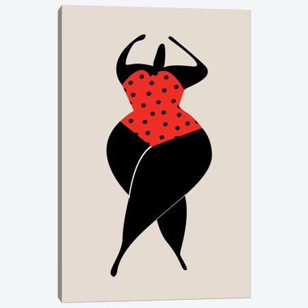 Dancing In The Sun - Red Canvas Print #KUB142} by Kubistika Canvas Artwork