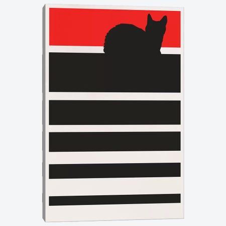 Digital Sunset - Cat Canvas Print #KUB149} by Kubistika Canvas Artwork