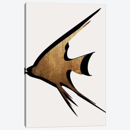 Gold Fish Canvas Print #KUB158} by Kubistika Canvas Print