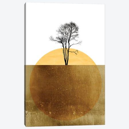 Golden Ocean Canvas Print #KUB163} by Kubistika Canvas Artwork