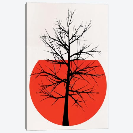 In The Wild - Red Canvas Print #KUB170} by Kubistika Canvas Print