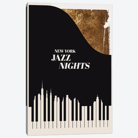 Jazz Nights Canvas Print #KUB174} by Kubistika Canvas Wall Art