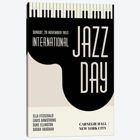 Jazzy Days Canvas Print #KUB175} by Kubistika Canvas Wall Art
