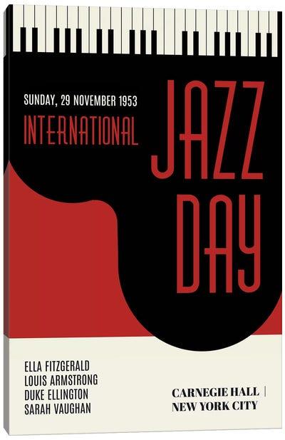 Jazzy Days - Dark Red Canvas Art Print