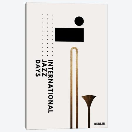 Jazzy Days Berlin I Canvas Print #KUB177} by Kubistika Canvas Wall Art