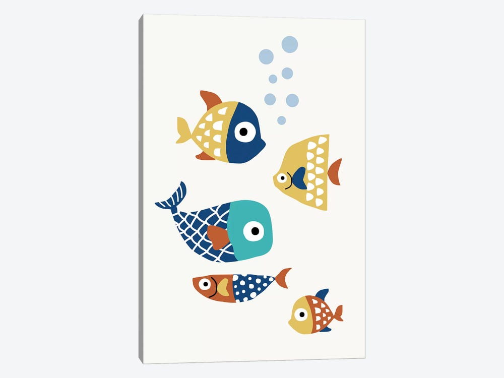 Little Friends by Kubistika 1-piece Canvas Print
