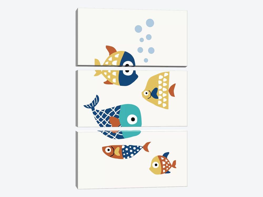 Little Friends by Kubistika 3-piece Canvas Print
