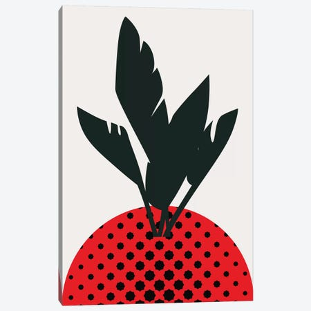 Merry Strawberry Canvas Print #KUB189} by Kubistika Canvas Wall Art