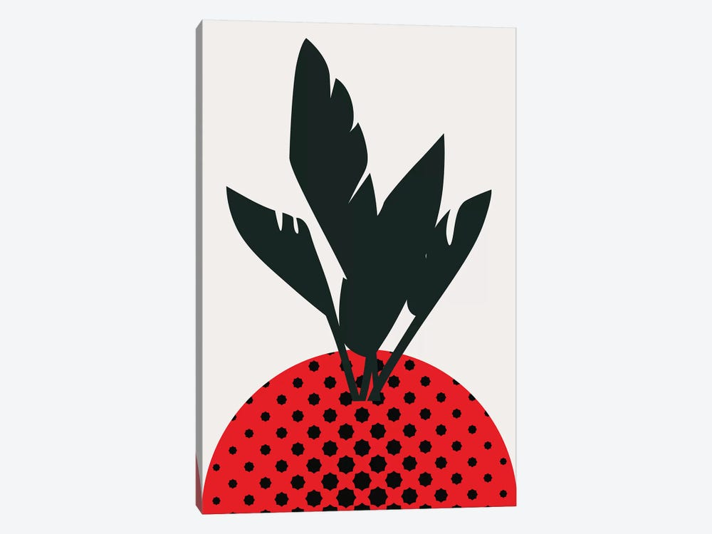Merry Strawberry by Kubistika 1-piece Canvas Print