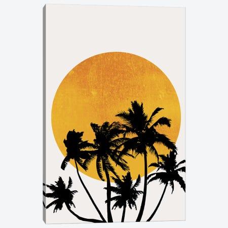 Miami Beach Sunset Canvas Print #KUB191} by Kubistika Canvas Art Print