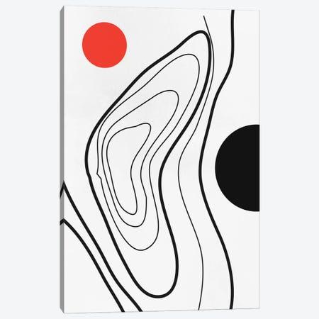 My Universe - Red Canvas Print #KUB197} by Kubistika Canvas Artwork