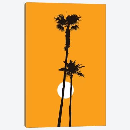 Paradise - Yellow Canvas Print #KUB205} by Kubistika Canvas Artwork