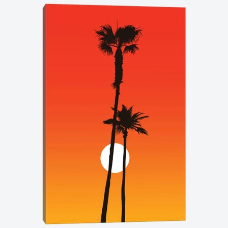 Paradiso - Orange Canvas Print #KUB207} by Kubistika Canvas Art