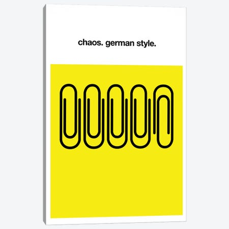 Chaos German Style Canvas Print #KUB20} by Kubistika Art Print