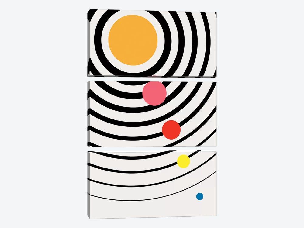 Playful Universe by Kubistika 3-piece Canvas Print