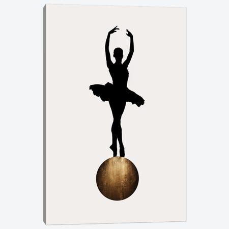 Prima Ballerina - Gold Canvas Print #KUB213} by Kubistika Canvas Artwork