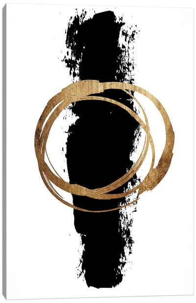 Circle And Line Canvas Art Print