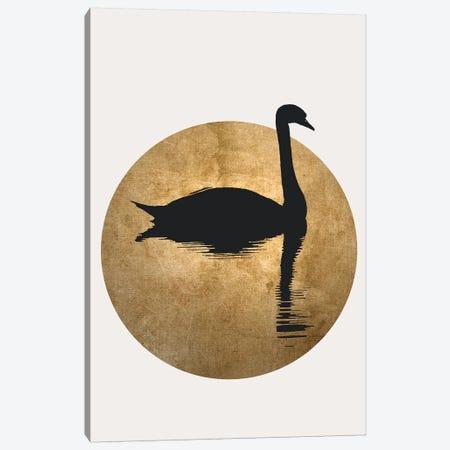 The Swan - Gold Canvas Print #KUB237} by Kubistika Canvas Art Print