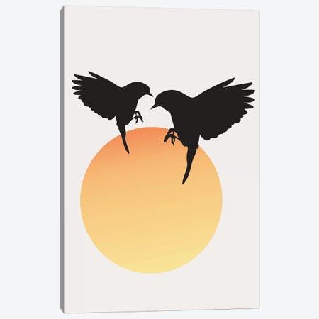 Tweet Tweet Canvas Print #KUB242} by Kubistika Canvas Art Print