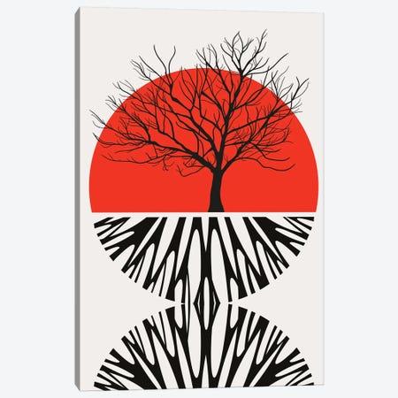Warming Roots - Red Canvas Print #KUB245} by Kubistika Canvas Artwork