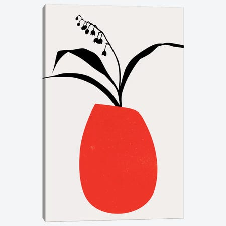 Water Lilies - Red Canvas Print #KUB248} by Kubistika Canvas Art Print