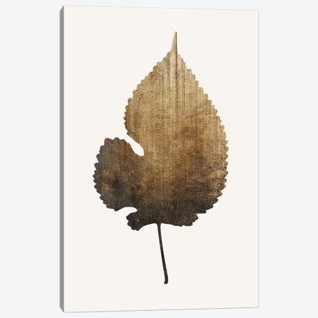 Golden Leaf Canvas Print #KUB32} by Kubistika Canvas Wall Art