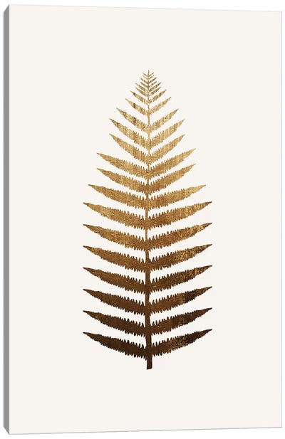 Golden Leaf No.7 Canvas Art Print
