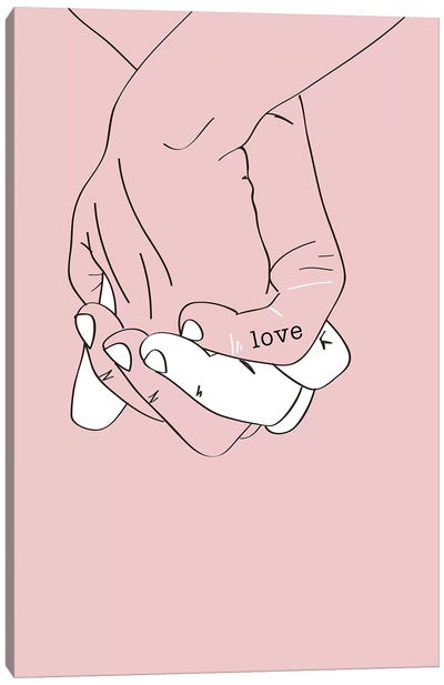 Hand In Hand Canvas Art Print