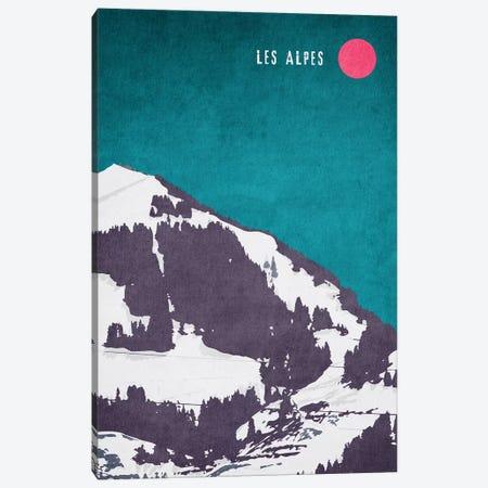 Les Alpes Canvas Print #KUB40} by Kubistika Canvas Print