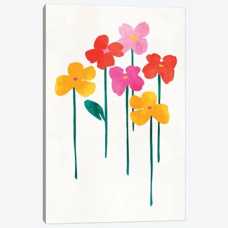 Little Happy Flowers Canvas Print #KUB43} by Kubistika Canvas Art Print