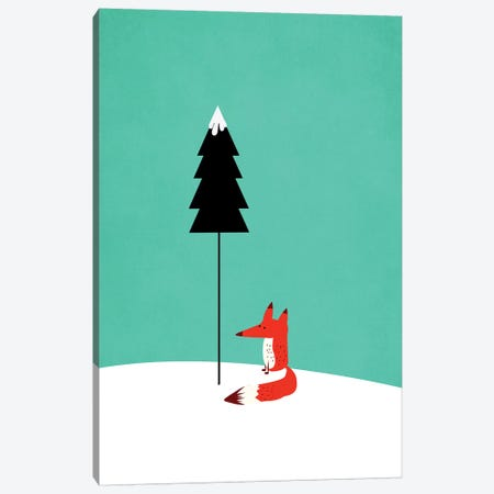 Little Mister Fox Canvas Print #KUB44} by Kubistika Canvas Artwork