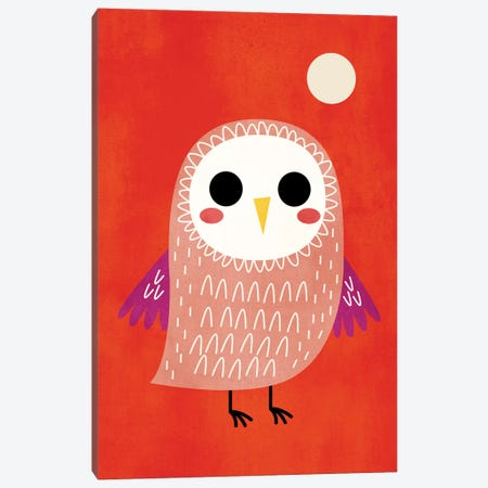 Little Owl Canvas Print #KUB45} by Kubistika Canvas Wall Art