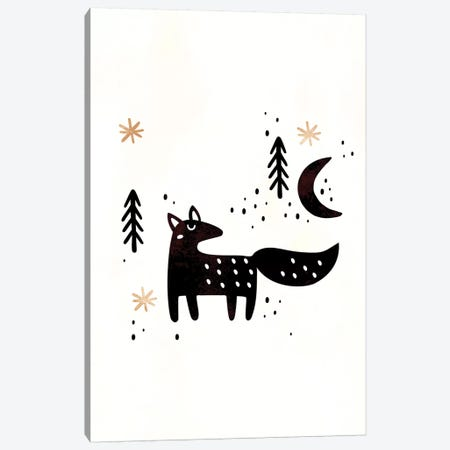 Little Winter Fox Canvas Print #KUB47} by Kubistika Canvas Artwork